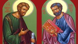 Ο Άγιος Απ. Βαρθολομαίος κ´ Ο Άγιος Απ. Βαρνάβας; The Holy Apostle Bartholomew & 'Saint Apostle Barnabas; Святой апостол Варфоломей и апостол апостола Варнавы