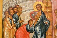Уверение Апостола Фомы. Новгородская икона-таблетка. Фото из интернета 2.